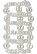 Basic Essentials Pearl Stroker Beads - Clear