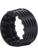 Silicone Reversible Enhancer Cock Ring - Black