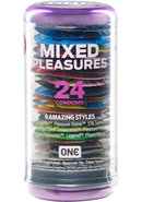 One Mixed Pleasures Condoms 9 Styles 24 Each Per Container