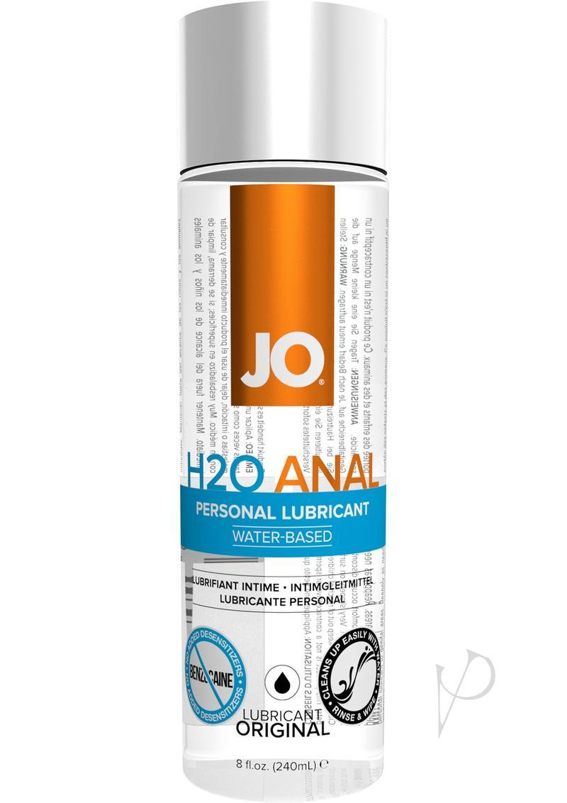 Jo H2o Anal Water Based Lubricant 8oz